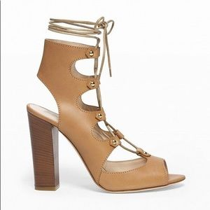 Club Monaco Nude Lace Up Heels (Emili style)